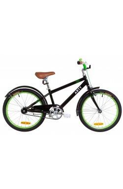 """Велосипед 20"""" Dorozhnik ARTY 2019 (черно-салатный)"""