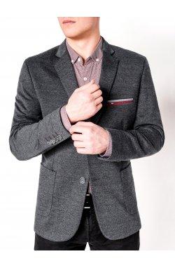 Мужской кэжуал пиджак P74 - темно - серый