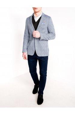 Мужской кэжуал пиджак P92 - темно - Синий