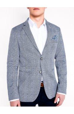 Мужской кэжуал пиджак P92 - Синий