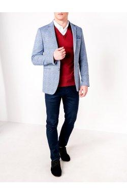 Мужской кэжуал пиджак P92 - LIGHT Синий
