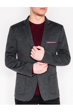 Мужской кэжуал пиджак P112 - темно - серый