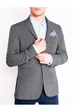 Мужской кэжуал пиджак P95 – темно - серый/MELANGE