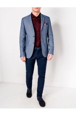 Мужской кэжуал пиджак P100 - Синий