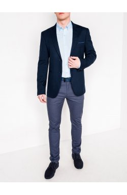 Мужской ELEGANT пиджак P108 - темно - Синий