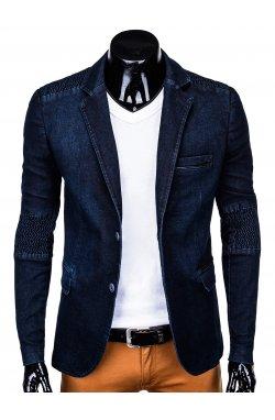 Мужской пиджак P116 - темно - джинсовый