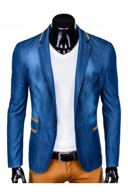 Мужской пиджак P129 - джинсовый