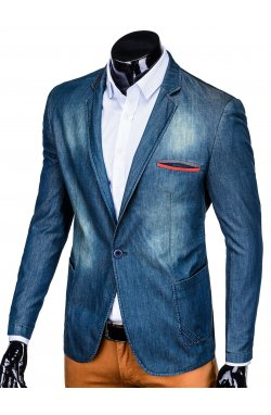 Мужской пиджак P130 - джинсовый
