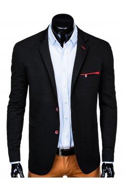 Мужской кэжуал пиджак P136 - BLACK