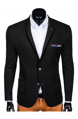 Пиджак мужской кежуал P150 - черный