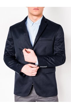 Мужской ELEGANT пиджак P155 - темно - Синий
