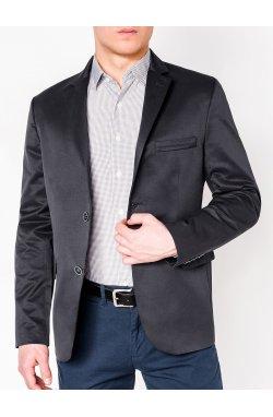 Мужской ELEGANT пиджак P155 - темно - серый