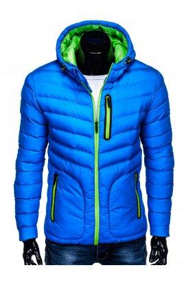 Куртка мужская демисезонная стеганая K356 - голубой