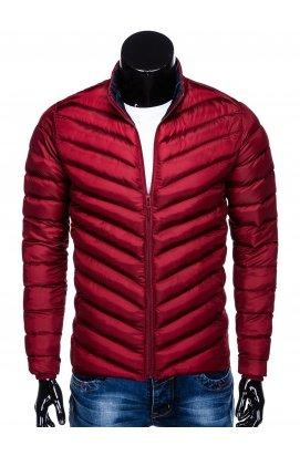 Куртка мужская демисезонная стеганая K344 - Темно- красный