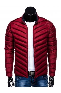 MEN'S PID-SEASON QUILTED Куртка мужская K344 - темно - красный