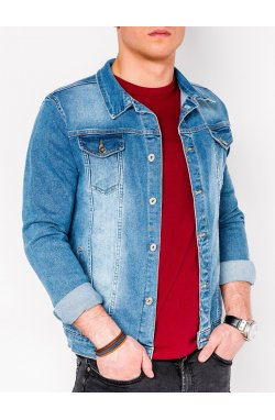 MEN'S PID-SEASON джинсовый Куртка мужская K345 - светло - голубой