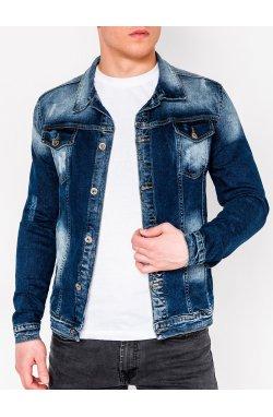 MEN'S PID-SEASON джинсовый Куртка мужская K345 - голубой