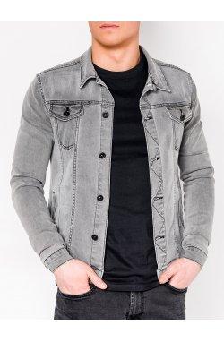 MEN'S PID-SEASON джинсовый Куртка мужская K345 - серый