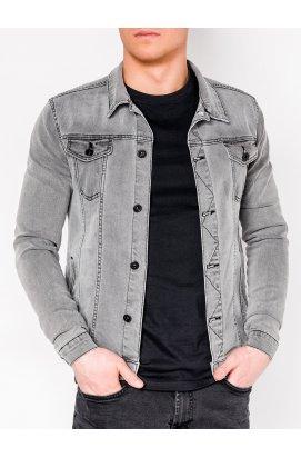 Куртка мужская джинсовая K345 - Серый