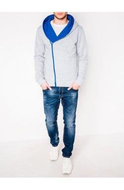 MEN'S ZIP-UP HOODIE PRIMO - серый/голубой