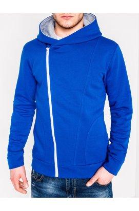 Толстовка чоловіча на застібці з капюшоном PRIMO - синьо-сіра