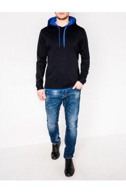 Толстовка мужская CAMILO - черный/голубой
