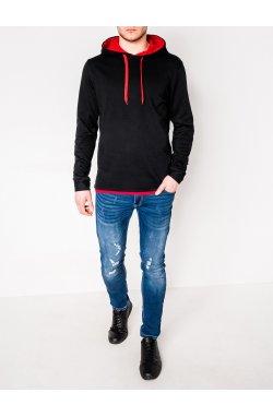 Толстовка мужская CAMILO - черный/красный