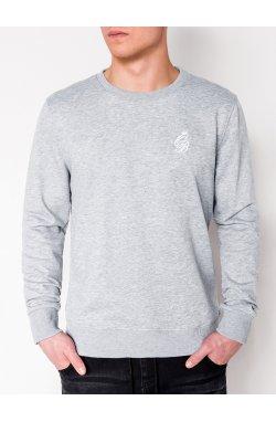 MEN'S PRINTED SWEATSHIRT B919 - серый