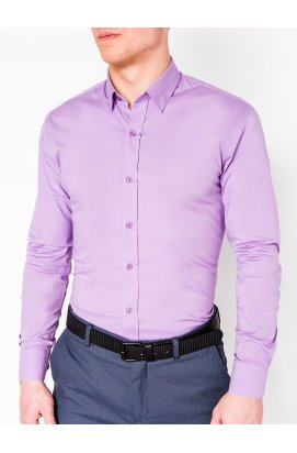 Рубашка мужская R219 - lilac