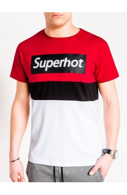 MEN'S PRINTED T-SHIRT S1083 - красный