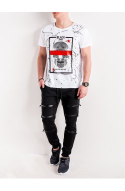 MEN'S PRINTED T-SHIRT S1086 - Белый