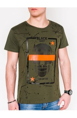 MEN'S PRINTED T-SHIRT S1086 - хаки