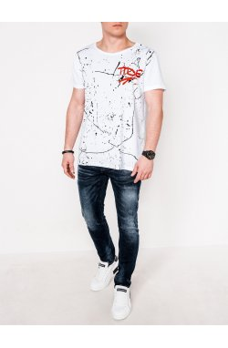 MEN'S PRINTED T-SHIRT S1091 - Белый
