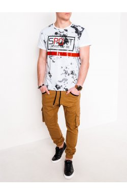 MEN'S PRINTED T-SHIRT S1092 - Белый