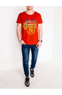 MEN'S PRINTED T-SHIRT S1093 - красный