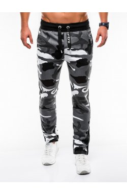 MEN'S SWEATPANTS P741 - серый/камуфляжный