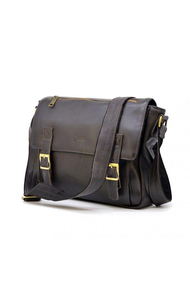 Мужская кожаная сумка через плечо из телячьей кожи TARWA GC-6046-1md