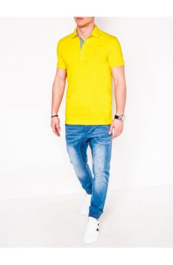 MEN'S PLAIN POLO SHIRT S837 - светло - желтый