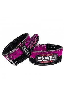 Пояс для пауэрлифтинга Power System PS-3850 Strong Femme Black/Pink XS
