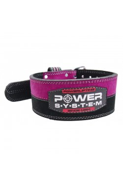 Пояс для пауэрлифтинга Power System PS-3850 Strong Femme Black/Pink XS