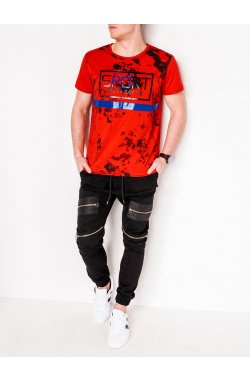 MEN'S PRINTED T-SHIRTS1092 - красный