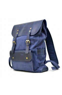Рюкзак унисекс микс ткани канваз и кожи KK-9001-4lx TARWA