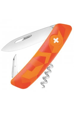Нож складной мультитул Swiza C01 (95мм, 6 функций), оранжевый KNI.0010.2070