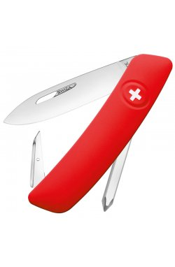 Нож складной, мультитул Swiza D02 (95мм, 6 функций), красный KNI.0020.1000