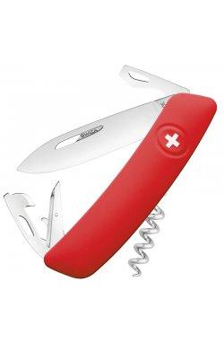 Нож складной, мультитул Swiza D03 (95мм, 11 функций), красный KNI.0030.1000