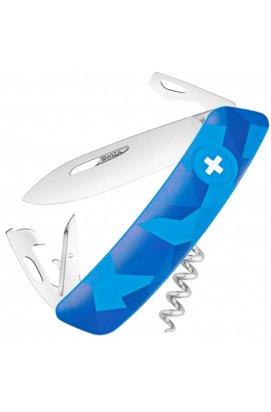 Нож складной, мультитул Swiza С03 (95мм, 11 функций), синий KNI.0030.2030