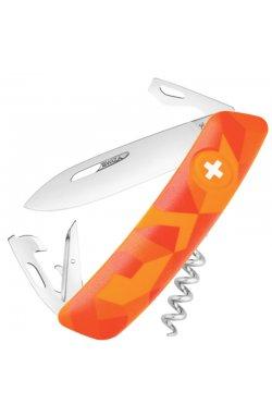 Нож складной, мультитул Swiza С03 (95мм, 11 функций), оранжевый KNI.0030.2070