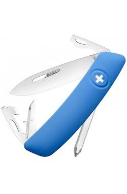 Нож складной, мультитул Swiza D04 (95мм, 11 функций), синий KNI.0040.1030