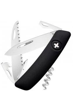 Нож складной, мультитул Swiza D05 (95мм, 12 функций), черный KNI.0050.1010
