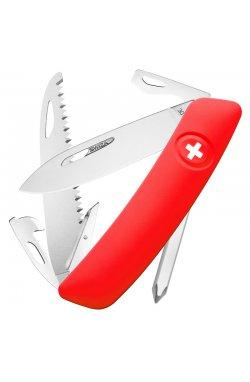 Нож складной, мультитул Swiza D06 (95мм, 12 функций), красный KNI.0060.1000